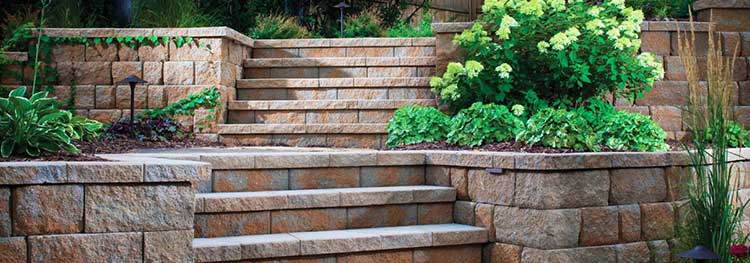 Multi Terrace Retaining Wall and Steps