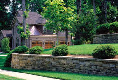 Retaining Wall Using Belgard's Celtik Wall Collection Wall Stone