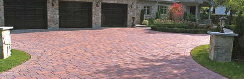 Paver Driveway using Techo-Bloc Pavers in Arlington, VA