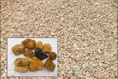 "1"" to 3"" Virginia Washed Gravel larger decorative stone."