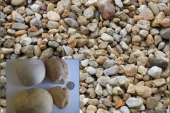 "2"" to 4"" Chesapeake Washed Gravel larger decorative stone."