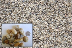 "¾"" Chesapeake Washed Gravel decorative stone."