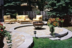 Bergearc Contoured Patio with Recessed Firepit