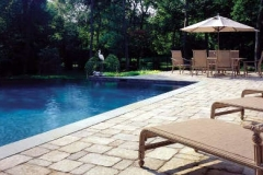 Rustic Paver Pool Deck Featuring Belgard's Mega-Bergerac Collection